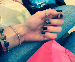 blue, december, and nail art image