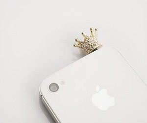 iphone, crown, and apple image