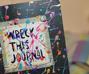 wreck this journal, book, and art image