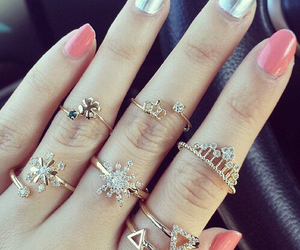 and, nails, and pink image