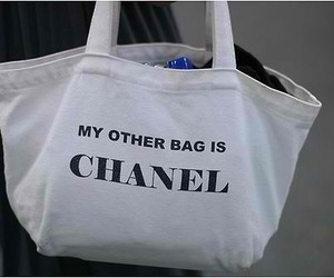 bag, chanel, and my other bag is chanel image