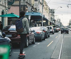 boy, skate, and street image