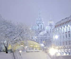 winter, snow, and russia image