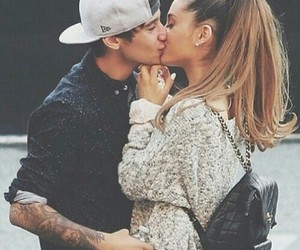 ariana grande, kiss, and couple image