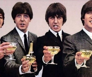 champagne, music, and johnlennon image