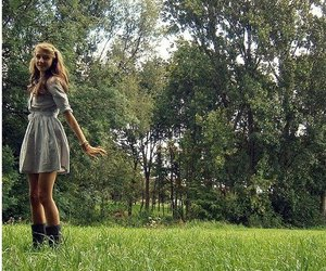 blond, boots, and dress image