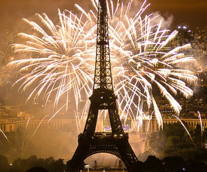 paris, fireworks, and new year image