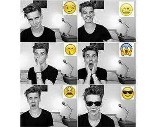 youtuber, joe sugg, and emojis image