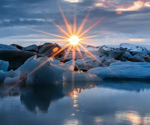 nature, ice, and sun image