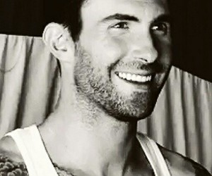 adam levine, black and white, and Hot image