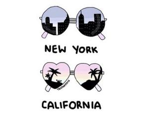 california, new york, and overlay image