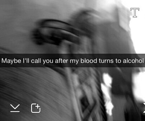 alcohol, snapchat, and blood image