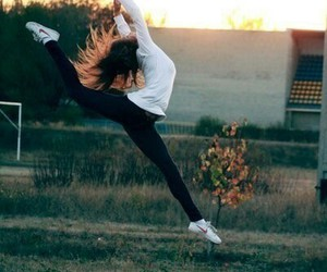 girl, dance, and jump image