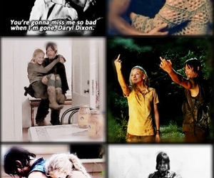 daryl, twd, and rip beth image