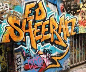 ed sheeran, art, and graffiti image