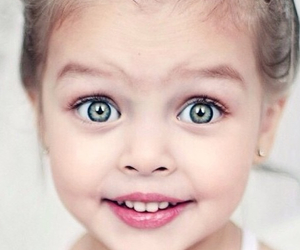 girl, eyes, and baby image