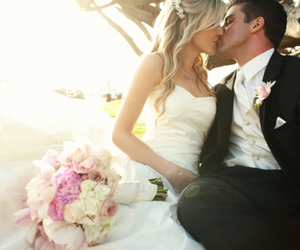 wedding, love, and kiss image