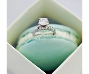 ring, macaroons, and wedding image