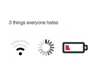 hate, funny, and wifi image