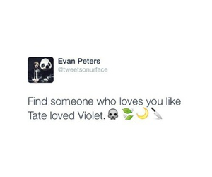 boy, tate and violet, and love image