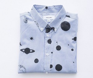 shirt, planet, and blue image