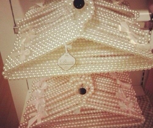 pearls, hanger, and girly image
