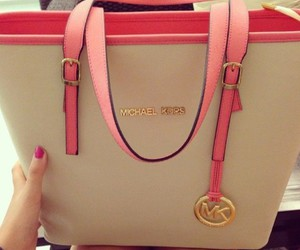 bag, Michael Kors, and pink image