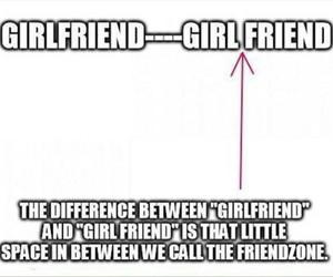 girlfriend, friendzone, and friends image