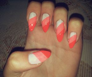 candy stripes, stiletto, and nails image