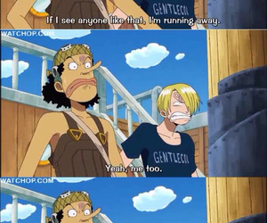anime, funny, and one piece image
