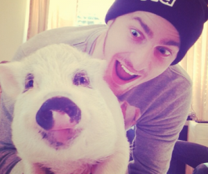 kendall schmidt, yuma, and pig image