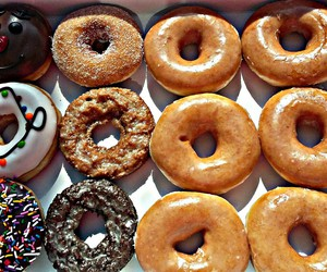 chocolate, donuts, and sugar image