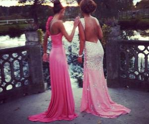 dress, pink, and girl image
