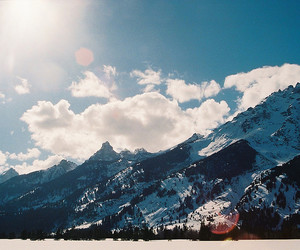 mountains, photography, and sky image