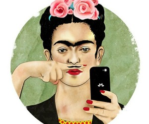 Frida, kahlo, and selfie image