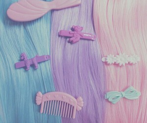 pastel, hair, and pink image