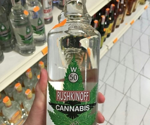 vodka, alcohol, and cannabis image