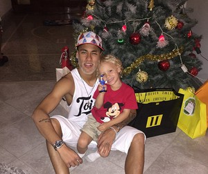 neymar, davi lucca, and christmas image
