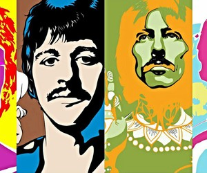 art, beatles, and andyworhol image