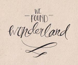 wonderland, Lyrics, and quote image