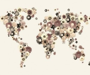 earth, flowers, and world image