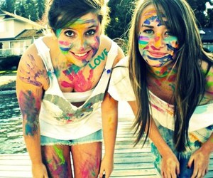 girl, friends, and colors image