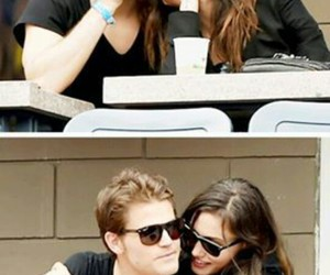 paul wesley, phoebe tonkin, and tvd image