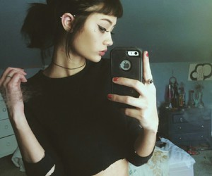 hair, pretty, and Piercings image