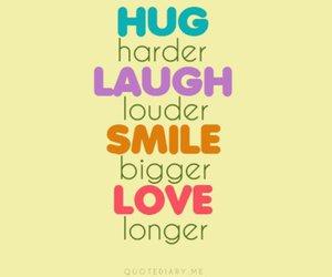 love, smile, and hug image