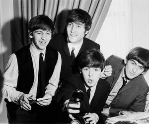 the beatles, george harrison, and Paul McCartney image