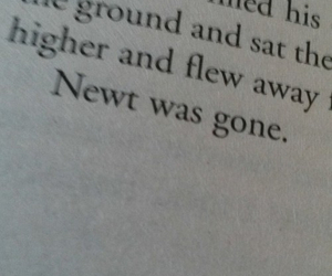 book, newt, and quote image
