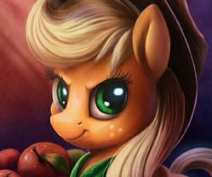 apples, MLP, and applejack image