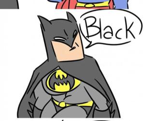 batman, superman, and coffee image