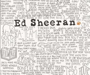 ed sheeran, song, and music image